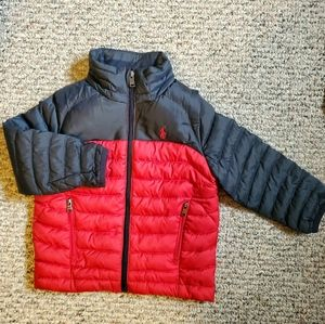 Ralph Lauren Polo red & blue dow  jacket size 2T